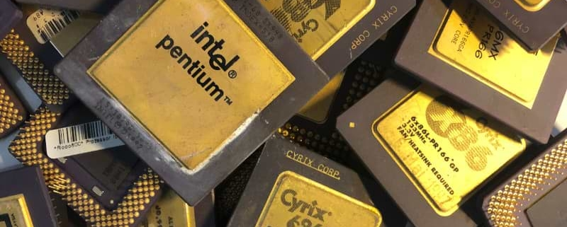 Computerprozessor - CPU Keramik Goldcap